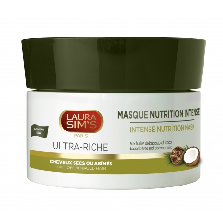 MASQUE NUTRITION INTENSE Aux huiles de baobab & coco Cheveux secs ou abîmés